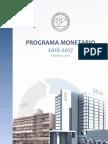 Programa Monetario 2016 2017