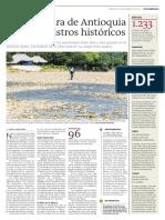 Temperatura de Antioquia supera registros historicos