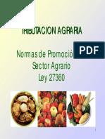 Ley Promocion Agraria-27360