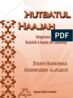 Khutbatul-Haajah- Syaikh Albani