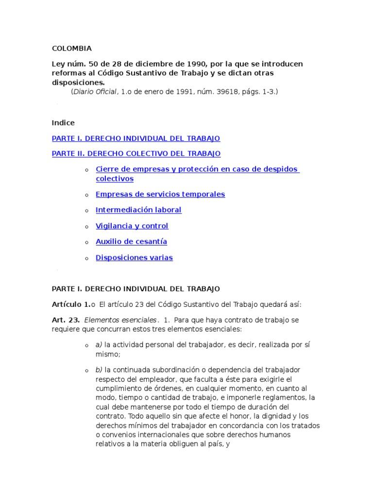 Código Del Trabajo-COLOMBIA