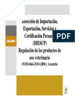 REGULACION DE LOS PRODUCTOS DE USO VETERINARIO