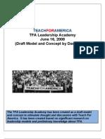 Teach for America Leadership Academy_Concept Draft_Jarvis