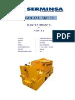 Manual de Mantenimiento y Partes Sm-165 Serminsa