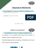Sesion 1- El Concepto de Proyectos de Inversión