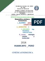 CINÉTICA ENZIMÁTICA - Biologia y Quimica