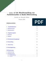 BWL für die Abschlussprüfung von Fachinformatiker in Baden-Württemberg