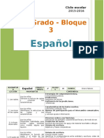 Plan 2do Grado - Bloque 3 Español
