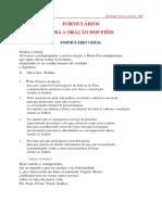 Leccionário Carmelita - Formulários Oração Dos Fiéis