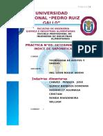 3ra Práctica - Indice de Saponificacion en Aceite