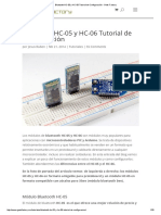 Bluetooth HC-05 y HC-06 Tutorial de Configuración - Geek Factory