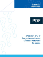 Preguntas Analizadas Ciencias Naturales Saber 5