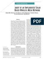 FIELD MEASUREMENT OF AN IMPLEMENTED SOLAR POWERED BS-BASED WIRELESS MESH NETWORKFad Lull Ah 2015