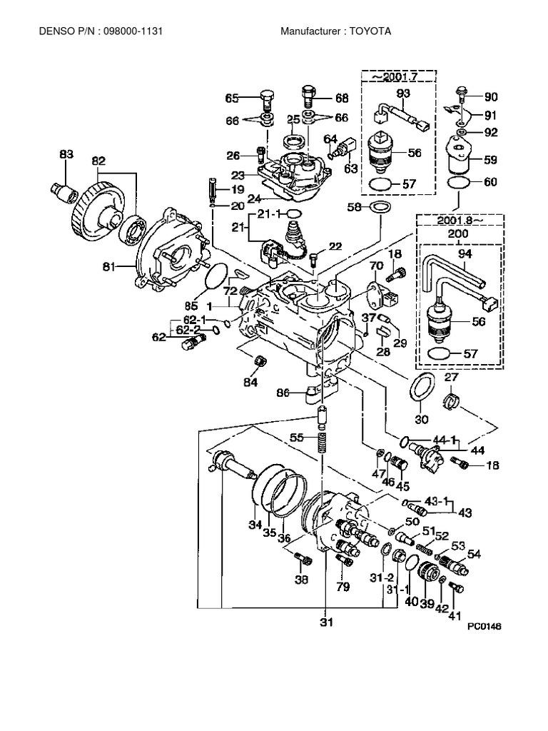 hino dutro fuel injection pump diagram