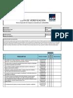 Lista de Verificación Para La Inspección de Maquinas Accionadas Por Combustibles.