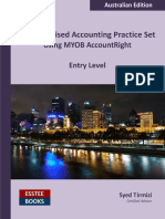 Computerised Accounting Practice Set Using MYOB AccountRight - Entry Level