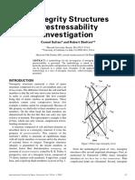 Tensegrity Structures Prestressability Sultan, Skelton 2001