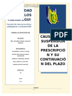 Causales de Suspencion de La Prescipcion FINAL ULTIMO