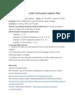 dautrich core curriculum lesson plan revised