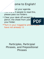 Participles Participial Plihrases and Prepositional Phrases