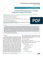 Effectiveness of French Physiotherapy in Treating Congenital Clubfoot Deformity