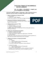 Registo de Empresas na República de Moçambique (Sociedade por quotas)