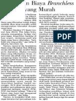 Bank Ingin Biaya Branchless Banking Yang Murah (PERBANKAN, Investor Daily, 10 Mei 2013)