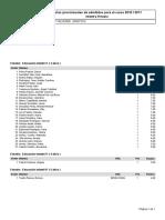 Listado Provisional Admitidos matrícula 2010/2011