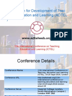 11th International Conference on Teaching, Education and Learning (ICTEL)