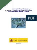 RECOMENDACIONES PARA LA PREVENCIÓN, EL CONTROL Y LA VIGILANCIA DE LAS MICOTOXINAS EN LAS FÁBRICAS DE HARINAS Y SÉMOLAS