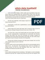Teknis Analisis Data Kualitatif