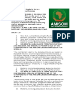 AMISOM Ready to Secure Somalia's Electoral Process