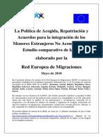 0b. Emn Synthesis Report Unaccompanied Minors Publication Sept10 Es Version Es
