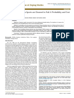 Antidoping Systems in Sports Are Doomed to Fail a Probability and Cost Analysis 2161 0673.1000148