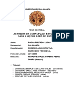 As Raízes Da Corrupção_estudos de Casos e Lições Para No Futuro - TESE de DOUTORADO