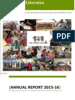 OBLF Annual Report 2015-16