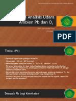 Studi Analisis Udara Ambien Pb Dan O3