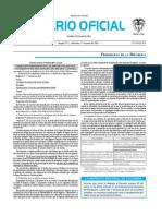 Diario oficial de Colombia n° 49.891. 01 de junio de 2016