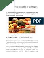 Los 50 Alimentos Saludables en Tu Dieta Para Adelgazar