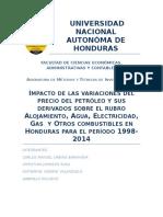Impacto de Las Variaciones Del Precio Del Petróleo en La Canasta Básica Hondureña