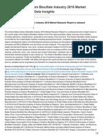 Idatainsights.com-United States Sodium Bisulfate Industry 2016 Market Research Report IData Insights