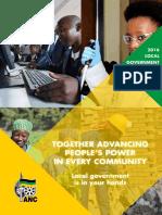 ANC local government election manifesto