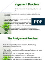 The Assignment Problem (2)