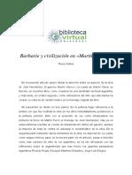 Civilizacion y Barbarie en Martin Fierro
