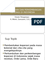 Pertumbuhan Dan Perkembangan Koperasi Di Indonesia