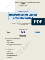 CEAPI - Transformada de Laplace e Z - Prof. Maitelli