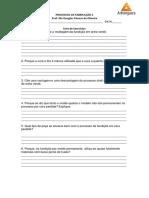 lista de exercicios Processos de Fabricação 2