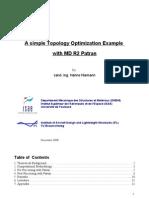 Topology Optimisation Example Nastran