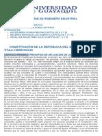 Análisis de 9 Capítulos de La Constitución Del Ecuador 2008