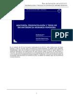 Anatomia, Fisiopatologia y tipos de incontinencia urinaria